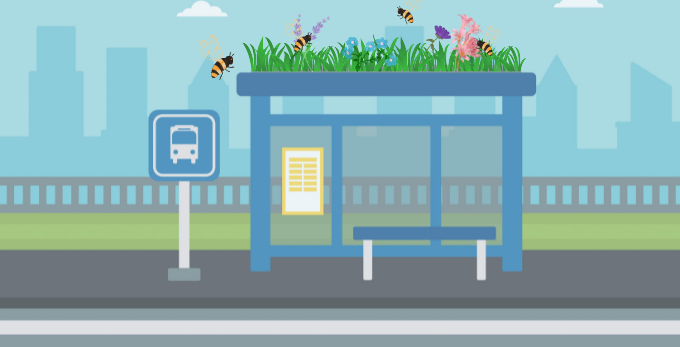Bee Stops - Bushaltestellen für Bienen
